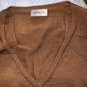 Balenciaga Paris Mens V-Neck Pullover Size L